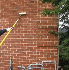 Sealing thin brick tiles how to apply sealant to thin - Silicone paint for exterior walls ...